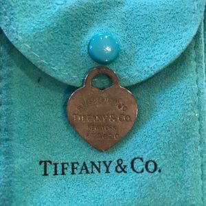 Authentic Tiffany & Co sterling HEART Charm